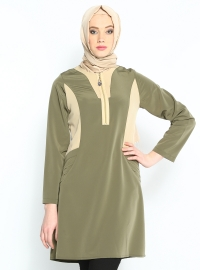Garnili Tunik - Haki - Cml Collection