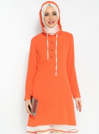 Fileli Tunik - Mercan - Modesty