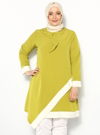 Krep Tunik - Asit Sarı - Cml Collection