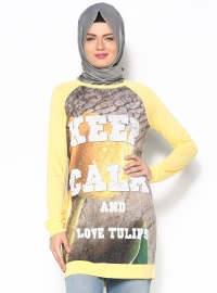 Keep Calm Tunik - Sarı - Dide