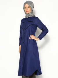 Keten Tunik - Saks - Cml Collection